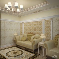 Квартира Классика: интерьер, квартира, дом, гостиная, классика, ампир, неогрек, палладианство, 50 - 80 м2 #interiordesign #apartment #house #livingroom #lounge #drawingroom #parlor #salon #keepingroom #sittingroom #receptionroom #parlour #classicism #50_80m2 arXip.com