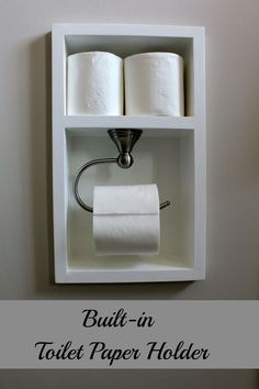 Recessed Toilet Paper Holder (aka working with small spaces) - http://centophobe.com/recessed-toilet-paper-holder-aka-working-with-small-spaces/ -