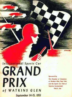 Grand Prix… 1951 Watkins Glen program cover