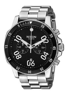 Nixon Men's A549000-00 Ranger Chrono Analog Display Quartz Silver Watch