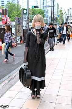 Oversized Net Top, Trippen Platform Shoes  Vivienne Westwood in Harajuku
