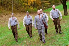 """Tweed 3 piece Suit, Maroon and Gold. My Fall Wedding at """"The Barn at Chestnut Springs"""""""