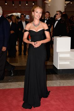 Scarlett Johansson attends 'Under The Skin' Premiere during the 70th Venice International Film Festival at Palazzo del Cinema on September 3...