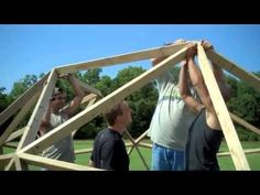 BUILDING A 2V WOODEN GEODESIC DOME - YouTube