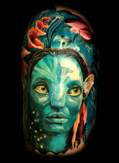 Film-inspired tattoos have always been fashionable, with an emotional impact on the one they wear. In this category we will explain the meanings and ideas of our tattoos that we consider to be trending for you. James Cameron, Sci Fi Movies, Good Movies, Color Tattoo, I Tattoo, Avatar Tattoo, Avatar Movie, Tattoo Zeichnungen, Body Art Tattoos