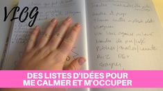 DES LISTES D'IDÉES POUR ME CALMER ET M'OCCUPER - Vlog Texts, Language, Messages, Youtube, Things To Make, Calm, Languages, Text Posts, Youtubers