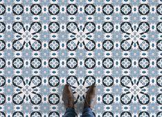 Moorish Tile Vinyl Flooring, leading Vinyl Flooring designed and manufactured by Atrafloor. Bring any design concept to life as Flooring. Tile Effect Vinyl Flooring, Vinyl Tiles, Rubber Flooring, Powder Blue Color, Art Deco Tiles, Patterned Vinyl, Blue Tiles, Higher Design, Moorish