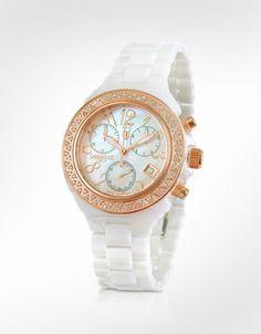 Lancaster  Ceramik Chrono Diamonds Watch  Unique!