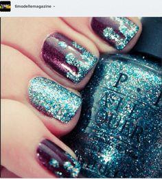 Glitter lava #nails