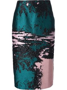 Msgm Jacquard Pencil Skirt - Petra Teufel - Farfetch.com