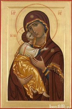 Vergine di Vladimir Religious Images, Religious Icons, Religious Art, Byzantine Icons, Byzantine Art, Christian Artwork, Russian Icons, Religious Paintings, Mary And Jesus