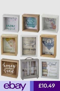 Saving Coins, 3d Frames, Savings Box, Wooden Projects, Money Box, Diy Box, Crafty Craft, Photo Displays, Craft Fairs