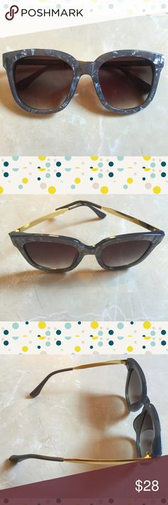 "Modern Gray Marble Frame Sunglasses New Cute & Stylish Gray Marble Frame Sunglasses * Acetate Base Hand Polished Frame  * Polycarbonte UV400 Protection Lens  ​* Thin Quality Metal Temples  * Raised Bridge  * Microfiber Bag Included  (color will vary)  54mm(W) 49mm(H) 18mm(BR) 148mm Total Frame                                                           ❌TRADES ❌ LOWBALL OFFERS  ✅ USE THE ""ADD TO BUNDLE"" TO GET 15% DISCOUNT ON 2+ ITEMS ✅  POSH RULES   Accessories Glasses"