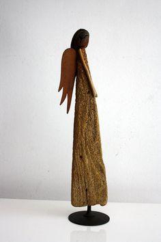 driftwood sculpture  Angel made from natural driftwood