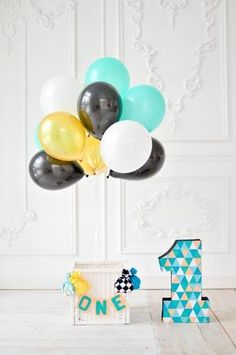 Printed photography backgrounds 1st birthday backdrop