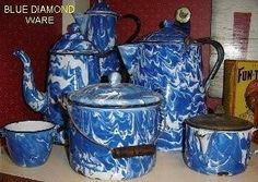 Blue Marble enamel ware pattern *  A Texas Girl's Favorites *