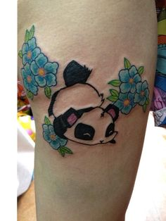 Animals Cute Panda Tattoo Designs For Women