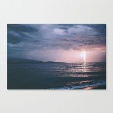 Lightning over the Strait of Georgia Canvas Print