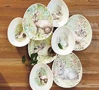 Bunny Egg Plates & Bowls - Traditional - Dinner Plates - by Pottery ...