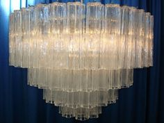 Vistosi Transparant Chandelier sixties