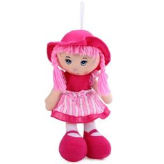 13.8 Inches Cutie Soft Little Braid Girl Plush Doll Stuffed Toy for Kids