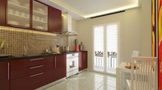 Damga Tasarım - 3D Mimari Modelleme ve Animasyon | Kitchen Cabinets, Home Decor, Decoration Home, Room Decor, Cabinets, Home Interior Design, Dressers, Home Decoration, Kitchen Cupboards