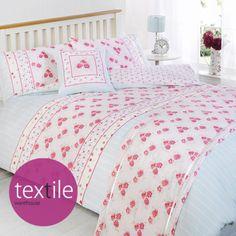 Pippa Floral Pink & Blue Duvet Quilt Set Bed in a Bag Cushion Cover Runner | eBay