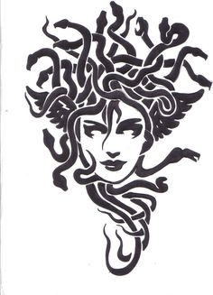 Tribal Medusa by damien-gosh on DeviantArt