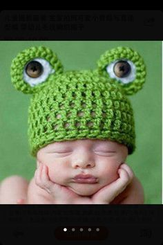 Newborn Crochet Green cute frog Outfit Hat set is perfect for Photo Prop, new born baby gift    They are made of extra soft acrylic yarn, Its light, yet
