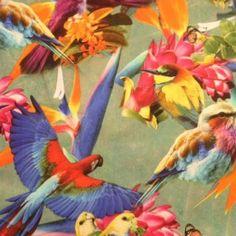 Birght birds - furniture fabric