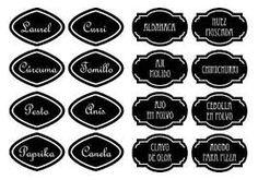 Resultado de imagen para etiquetas para imprimir gratis condimentos