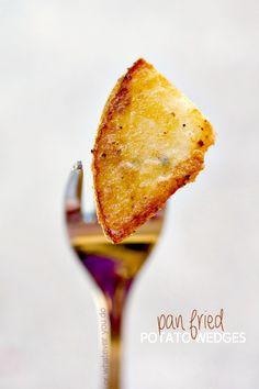 Pan Fried Potato Wedges