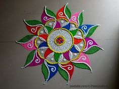 Browse Latest Rangoli Designs Images 2018 of colorful for Diwali, Find more simple rangoli images and save them in your Simple Rangoli Images, Latest Rangoli Designs Images, Rangoli Photos, Colorful Rangoli Designs, Rangoli Designs Diwali, Beautiful Rangoli Designs, Kolam Designs, Rangoli Colours, Rangoli Patterns