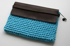 Tablet Case made with a kit by Wool and the Gang.