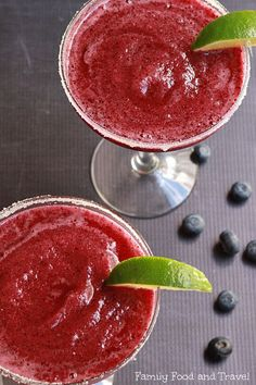 Blueberry Passionfruit Margaritas - Family Food And Travel