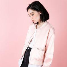 Bleecker Bomber Jacket - Pink