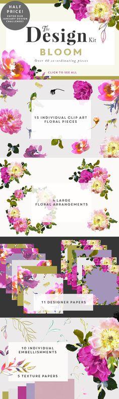The Design Kit - Bloom by CreateTheCut on Creative Market
