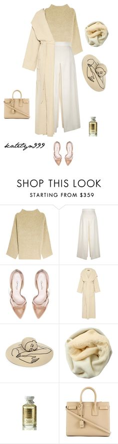"""Heart beat..."" by katelyn999 ❤ liked on Polyvore featuring The Row, Proenza Schouler, Oscar de la Renta, Pedro del Hierro, Eugenia Kim, Brunello Cucinelli, Creed and Yves Saint Laurent"