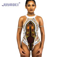 8ddb0c19c545f Sexy African Swimwear One Piece Swimsuit Cut Out Trikini Zipper Bandage  Geometric Monokini Women Swimming Suit Bikini