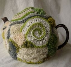 Tea Cozy Freeform Crochet and knitting  by 2SistersStringworks, $55.00