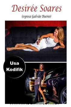 Desiré Soares esposa de Galvão Bueno usa Kodifik.