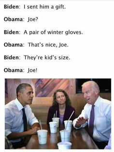 Biden:and Then I Said Boy I Will Slap The Orange O. ~ Memes curates only the best funny online content. Joe And Obama, Obama And Biden, Joe Biden, Funny Quotes, Funny Memes, Hilarious, Jokes, Political Memes, Funny Politics