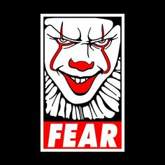 Fear Pennywise T-Shirt - FiveFingerTees Scary Movies, Horror Movies, Frases Para Tattoo, Day Of The Shirt, Pennywise The Clown, Horror Monsters, Marken Logo, Badge Design, Grafik Design