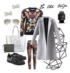 """""""Traveling again ✈️"""" by olga-highball on Polyvore featuring Marc by Marc Jacobs, adidas Originals, 1:Face, T-shirt & Jeans and Ray-Ban"""