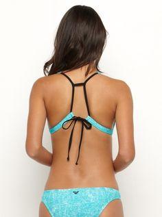 Sunbleached Racer T Back Bikini Top - Roxy