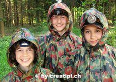 Gut geschützt haben sie gut lachen . . .