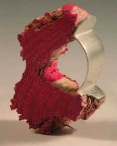 Teresa F. Faris - Collaboration With a Bird  2008  Wood chew toy, Sterling Silver  Ring