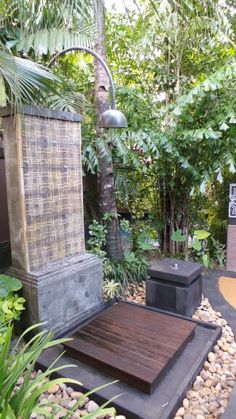 Outdoor shower at St Regis Bali