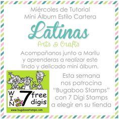 Latinas Arts and Crafts: Tutorial # 44: Mini Album Estilo Cartera.