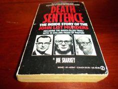 Death Sentence : Inside Story of the John List Murders by Sharkey SERIAL KILLER